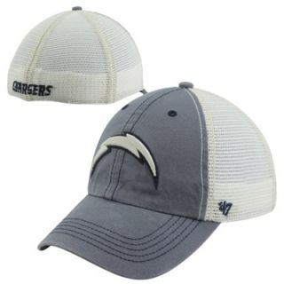 47 Brand San Diego Chargers Caprock Canyon Flex Hat   Natural Navy Blue