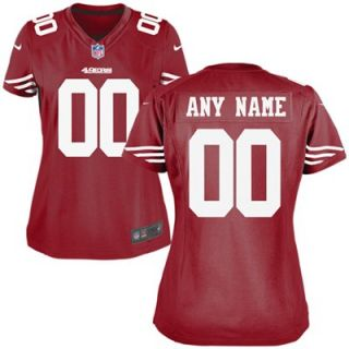 Nike San Francisco 49ers Womens Custom Game Jersey   Red