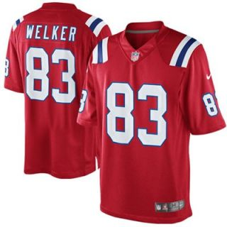 Nike Wes Welker New England Patriots Limited Jersey   Red