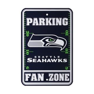 "Seattle Seahawks 12"" x 18"" Fan Zone Parking Sign   Navy Blue"