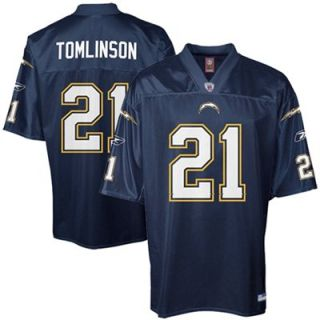 Reebok Ladainian Tomlinson San Diego Chargers Replica Jersey   Navy Blue