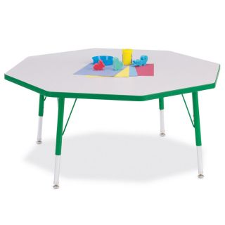 Jonti Craft Rainbow Accents Octagon Activity Table   Classroom Tables and Chairs