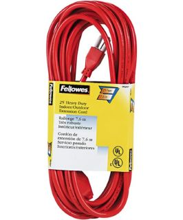 Fellowes Indoor/Outdoor Heavy Duty Extension Cord   Equipment