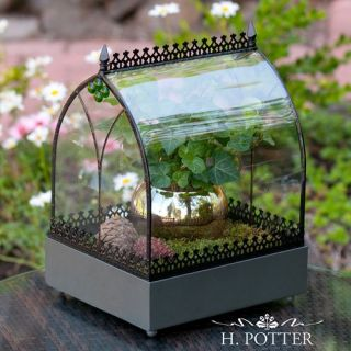 H. Potter Old World Wardian Case Terrarium   Greenhouses
