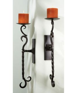 Wrought Iron Wall Sconce Candelabra   Set of 2   Candle Sconces