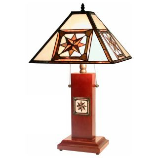 Tiffany Style Octagram Mission Table Lamp   Tiffany Table Lamps