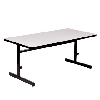 Correll Rectangle High Pressure Top Adjustable CRT Table   Office Tables