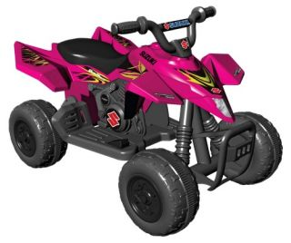 Kid Motorz Suzuki ATV Quad Battery Powered Riding Toy   Pink   Battery Powered Riding Toys