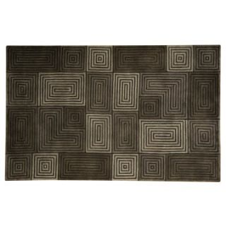 Capel Rugs Chatham Collection Wool Hearth Rug Silver/Pewter   Hearth Rugs
