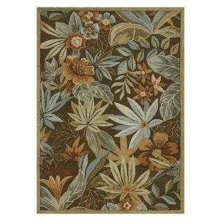 Loloi Ernest Hemingway Atrium Floral AU 03 Indoor/Outdoor Area Rug   Brown   Area Rugs