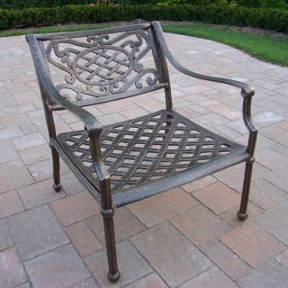 Oakland Living Tacoma Cast Aluminum Arm Chair   Antique Bronze   Outdoor Dining Chairs