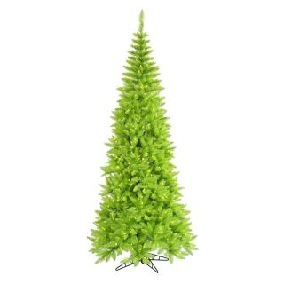 Vickerman Lime Slim Fir Pre lit Christmas Tree   Christmas Trees