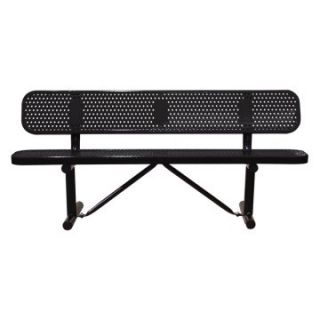 15 ft. Multicolor Personalized Perforated Standard Players Bench   In Ground Mount   Commercial Benches