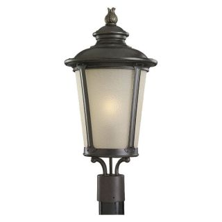 Sea Gull Cape May Outdoor Post Lantern   23H in. Burled Iron   Outdoor Post Lighting