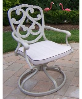 Oakland Living Pacifica Cast Aluminum Swivel Rocker   Outdoor Dining Chairs