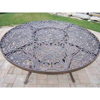 Oakland Living Mississippi Cast Aluminum 60 in. Patio Dining Table   Patio Tables
