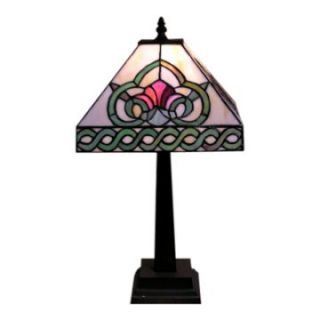Tiffany Style Floral Mission Style Table Lamp   Tiffany Table Lamps