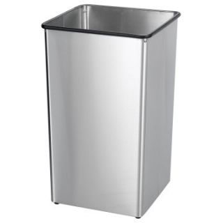 Safco Receptacle Stainless Steel Base 36 Gallon Commercial Trash Can