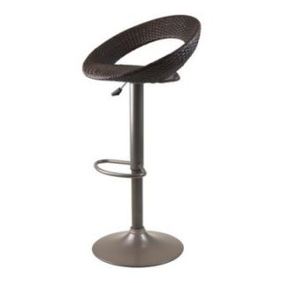 Winsome Bali Adjustable Airlift Bar Stool with Woven Seat   Bar Stools