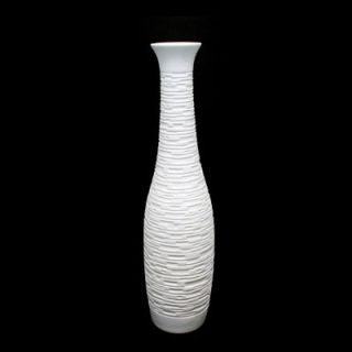 Urban Trends 30H in. Ceramic Vase   White   Floor Vases