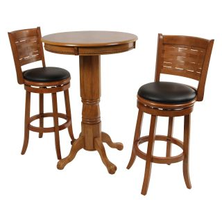 Boraam Oak Sumatra 3 pc. Pub Table Set   Pub Tables