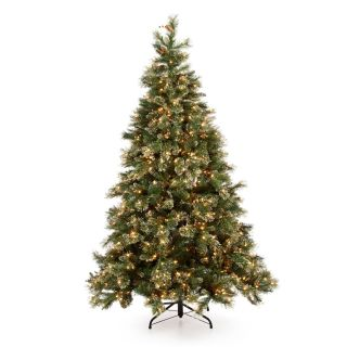 7.5 ft. Glittery Gold Pine Pre Lit Christmas Tree   Artificial Christmas Trees