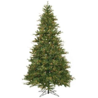 Clear Light Mixed Country Pine Pre lit Christmas Tree   Artificial Christmas Trees