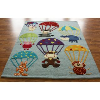 nuLOOM SEKD32A Air Safari Area Rug   Blue   5 x 7 ft.   Kids Rugs