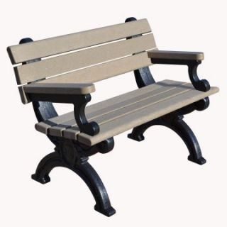 Silhouette Commercial Grade Park Bench   Outdoor Benches