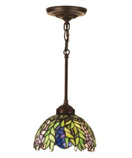 Meyda Honey Locust Tiffany Mini Pendant Light   8W in. Bronze   Tiffany Ceiling Lighting
