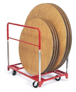 Raymond Products Round Folding Table Mover with Swivel 6 in. Phenolic Casters   Table & Chair Carts