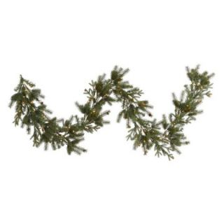 Vickerman 9 ft. Pre Lit Balsam Mix Pine Cone Garland   Christmas Garland