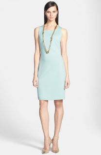St. John Collection Scoop Neck Milano Knit Sheath Dress