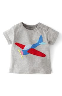 Mini Boden Appliqué T Shirt (Baby Boys)