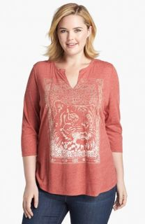 Lucky Brand Indian Tiger Tee (Plus Size)