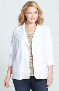 MICHAEL Michael Kors Shirred Linen Jacket (Plus Size)