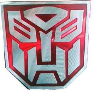 Transformers Autobot Red 3D Laser Reflex Auto Emblem Badge Aufkleber Decal   Large Size Auto