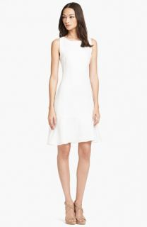 Armani Collezioni Sleeveless Flounce Skirt Linen Dress