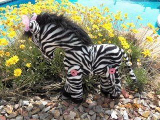 Cloth Zebra Stuffed Toy Pattern with Instruction CD/184/Made from Faux Zebra Fabric / Button Joined Legs Arts, Crafts & Sewing