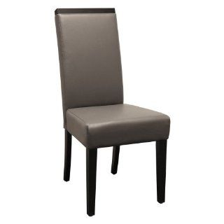 Chelsea Grey Leather Web Seat Dining Chair