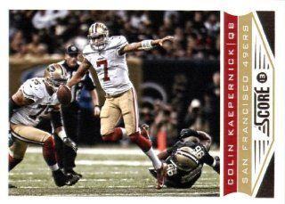 2013 Score NFL Football Trading Card # 186 Colin Kaepernick San Francisco 49ers Sports Collectibles
