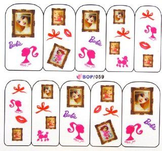 Egoodforyou BLE Water Slide Water Transfer Nail Tattoo Nail Decal Sticker Oil Portray (Barbies Dolls) with one packaged nail art flower sticker bonus Beauty