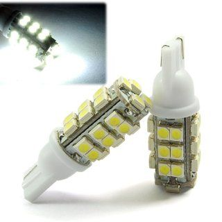 2 Pcs Xenon White 28 SMD LED T10 W5W 501 194 168 Car Side Light Sidelight License Plate Light Lamp Bulb Automotive