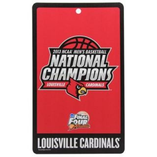 Louisville Cardinals 2013 NCAA Mens Basketball National Champions 11 x 17 Locker Room Sign