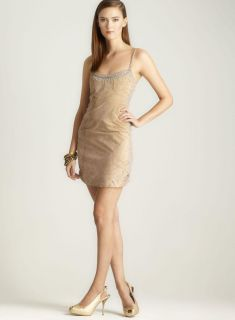 Nicole Miller Suede And Macrame Dress Nicole Miller Casual Dresses
