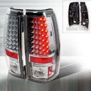 03 04 05 06 Chevy Silverado (except 3500) LED Tail Lights + Hi Power White LED Backup Lights   Chrome (Pair) Automotive
