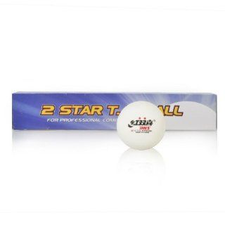 (Price/tube)DHS 2 Star Ping Pong Balls, 40mm Table Tennis Balls, Beer Pong Balls, 6 Pack (White / Orange)   White Sports & Outdoors