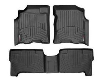2004 2006 Toyota Tundra Black WeatherTech Floor Liner (Full Set) [Double Cab] Automotive