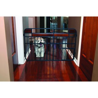 Carlson Design Studio Tuffy Wood Metal Expandable Gate Carlson Pet Products Pet Gates