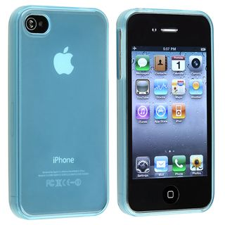 Clear Frost Light Blue TPU Rubber Skin Case for Apple iPhone 4/ 4S Eforcity Cases & Holders